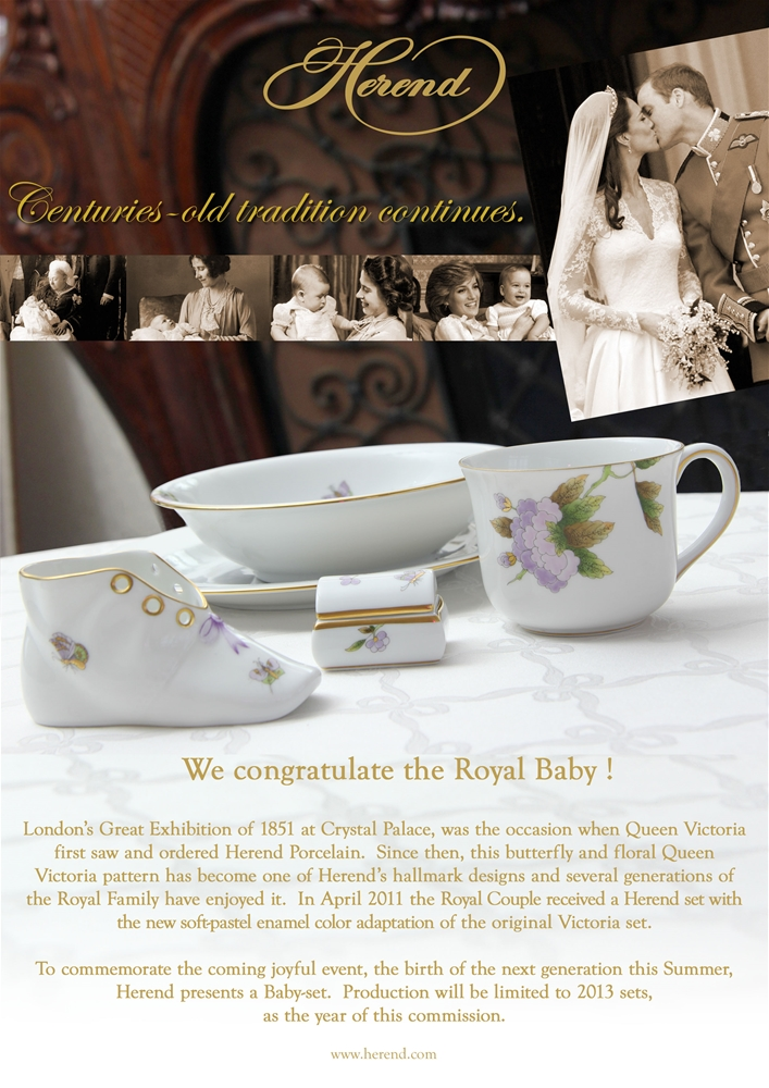 Herend Royal Baby Gift